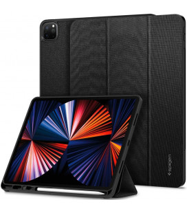 "Juodas atverčiamas dėklas Apple iPad Pro 12.9 2021 planšetei ""Spigen Urban Fit"""