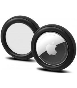 "Juodas dėklas Apple Airtag ""Spigen Silicone Fit 2-Pack"""