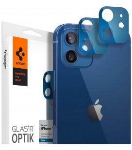"Mėlynas apsauginis grūdintas stiklas Apple iPhone 12 telefono kamerai apsaugoti ""Spigen Optik.TR Camera Lens"""