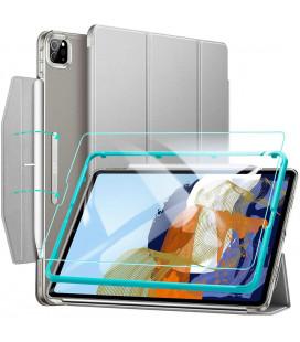 """Pilkas atverčiamas dėklas + Apsauginis grūdintas stiklas Apple iPad Pro 11 2021 planšetei """"ESR Ascend Trifold"""""""