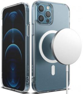 "Skaidrus dėklas Apple iPhone 12/12 Pro telefonui ""Ringke Fusion Magnetic Magsafe"""