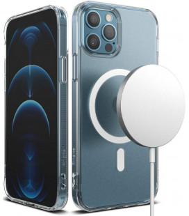 "Skaidrus dėklas Apple iPhone 12 Pro Max telefonui ""Ringke Fusion Magnetic Magsafe"""