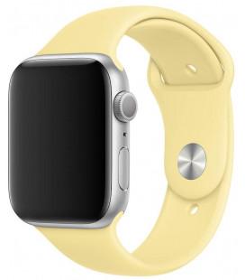 """Apyrankė Apple Watch 44mm laikrodžiui """"MWUX2ZM/A Lemon Cream"""""""