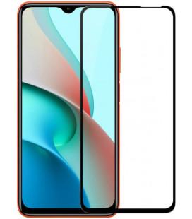 """Juodas apsauginis grūdintas stiklas Xiaomi Poco M3 / Redmi 9T telefonui """"Nillkin Amazing 2.5D CP+ Pro"""""""