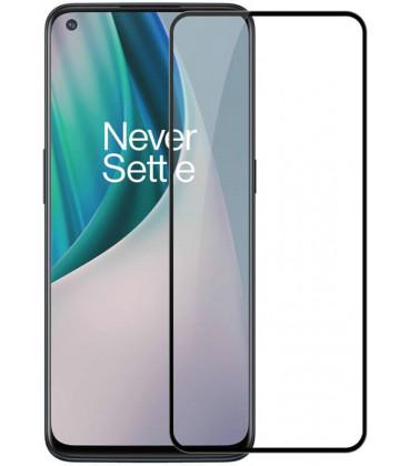 """Juodas apsauginis grūdintas stiklas Oneplus Nord N10 5G telefonui """"Nillkin Amazing 2.5D CP+ Pro"""""""