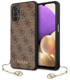 "Rudas dėklas Samsung Galaxy A32 4G telefonui ""GUHCA32GF4GBR Guess PU 4G Charm Case"""