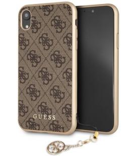 "Rudas dėklas Apple iPhone XR telefonui ""GUHCI61GF4GBR Guess Charms Hard Case 4G"""