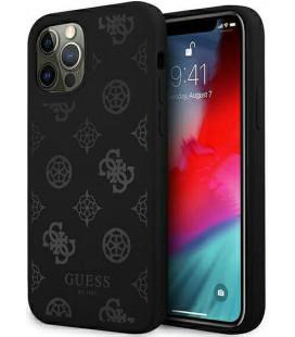 "Juodas dėklas Apple iPhone 12 Pro Max telefonui ""GUHCP12LLSPEBK Guess Liquid Silicone Tone on Tone Peony Case"""