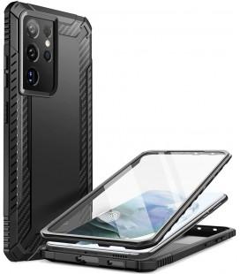 """Juodas dėklas Samsung Galaxy S21 Ultra telefonui """"Supcase Clayco Xenon"""""""