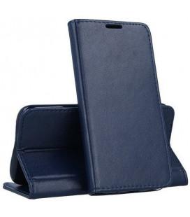 """Mėlynas atverčiamas dėklas Samsung Galaxy A12 telefonui """"Smart Magnetic"""""""