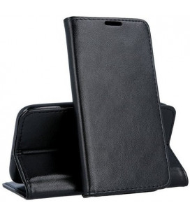 """Juodas atverčiamas dėklas Samsung Galaxy A72 telefonui """"Smart Magnetic"""""""