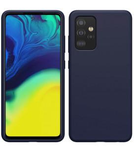 "Mėlynas dėklas Samsung Galaxy A52 / A52 5G / A52s 5G telefonui ""Nillkin Flex Pure Liquid Silicone Cover"""