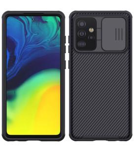 "Juodas dėklas Samsung Galaxy A52 / A52 5G / A52s 5G telefonui ""Nillkin CamShield Pro Hard Case"""