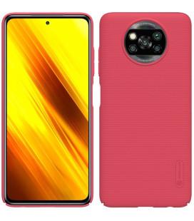 """Raudonas dėklas Xiaomi Poco X3 NFC / X3 Pro telefonui """"Nillkin Frosted Shield"""""""
