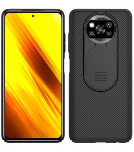 "Juodas dėklas Xiaomi Poco X3 NFC / X3 Pro telefonui ""Nillkin CamShield Pro Hard Case"""