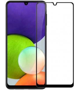 """Juodas apsauginis grūdintas stiklas Samsung Galaxy A22 LTE/4G telefonui """"Nillkin Amazing 2.5D CP+ Pro"""""""