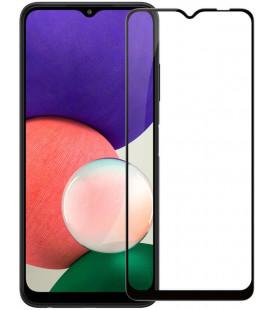 """Juodas apsauginis grūdintas stiklas Samsung Galaxy A22 5G telefonui """"Nillkin Amazing 2.5D CP+ Pro"""""""