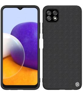 "Juodas dėklas Samsung Galaxy A22 5G telefonui ""Nillkin Textured Hard Case"""