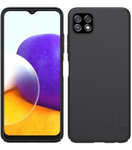 "Juodas dėklas Samsung Galaxy A22 5G telefonui ""Nillkin Frosted Shield"""