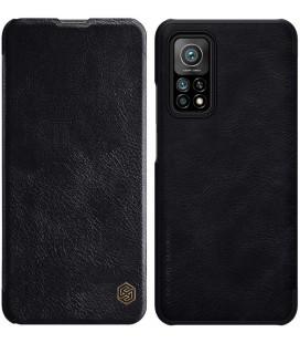 """Odinis juodas atverčiamas dėklas Xiaomi Mi 10T / 10T Pro telefonui """"Nillkin Qin"""""""