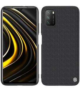 """Juodas dėklas Xiaomi Poco M3 telefonui """"Nillkin Textured Hard Case"""""""