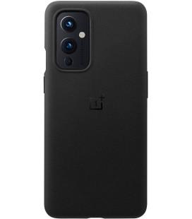 """Originalus juodas dėklas Oneplus 9 telefonui """"Sandstone Bumper Cover"""""""