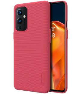 """Raudonas dėklas Oneplus 9 telefonui """"Nillkin Frosted Shield"""""""