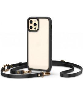 "Juodas dėklas Apple iPhone 12/12 Pro telefonui ""Spigen Cyrill Classic Charm"""