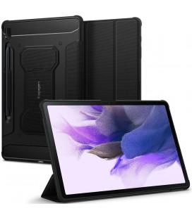 """Juodas atverčiamas dėklas Samsung Galaxy Tab S7 FE 12.4 T730 / T736B planšetei """"Spigen Rugged Armor PRO"""""""