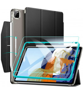 """Juodas atverčiamas dėklas + Apsauginis grūdintas stiklas Apple iPad Pro 11 2021 planšetei """"ESR Ascend Trifold"""""""