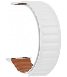 "Balta apyrankė Apple Watch 1/2/3/4/5/6/7/SE (42/44/45mm) laikrodžiui ""Tactical 743 Loop Leather Band"""