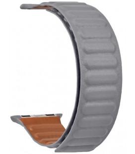 "Pilka apyrankė Apple Watch 1/2/3/4/5/6/7/SE (42/44/45mm) laikrodžiui ""Tactical 736 Loop Leather Band"""