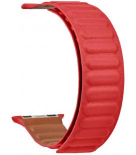"Raudona apyrankė Apple Watch 1/2/3/4/5/6/7/SE (42/44/45mm) laikrodžiui ""Tactical 740 Loop Leather Band"""