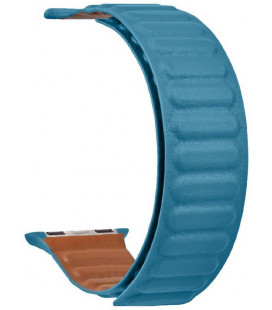 "Mėlyna apyrankė Apple Watch 1/2/3/4/5/6/7/SE (42/44/45mm) laikrodžiui ""Tactical 741 Loop Leather Band"""