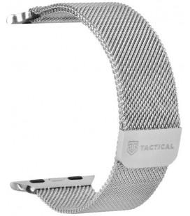 """Sidabrinės spalvos apyrankė Apple Watch 1/2/3/4/5/6/7/SE (42/44/45mm) laikrodžiui """"Tactical 356 Loop Magnetic Stainless Steel Ba"""
