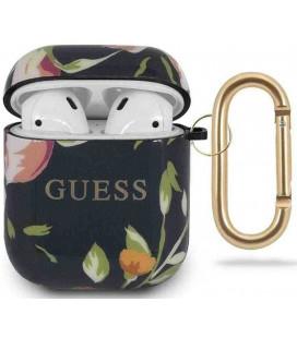 "Dėklas Apple Airpods 1 / 2 ausinėms ""GUACA2TPUBKFL03 Guess Silicone Case Floral N.3"""