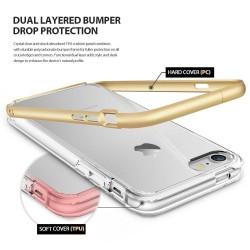 """Auksinės spalvos silikoninis dėklas Samsung Galaxy S7 Edge telefonui """"Mirror"""""""