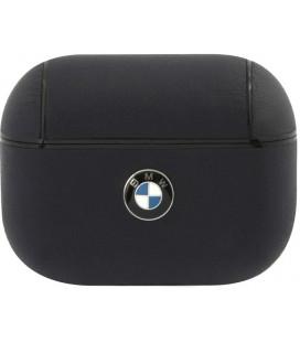 """Tamsiai mėlynas dėklas Apple Airpods Pro ausinėms """"BMAPCSLNA BMW Signature Leather Case"""""""