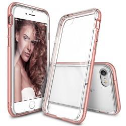 """Rausvai auksinės spalvos dėklas Apple iPhone 7 telefonui """"Ringke Frame"""""""
