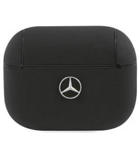 "Juodas dėklas Apple Airpods Pro ausinėms ""MEAPCSLBK Mercedes Leather Case"""