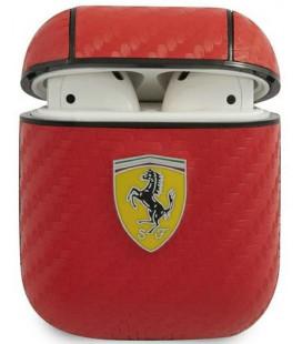 """Raudonas dėklas Apple Airpods 1 / 2 ausinėms """"FESA2CARE Ferrari Carbon PC/PU Case"""""""
