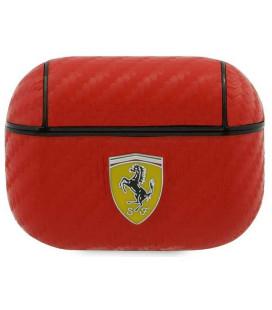 """Raudonas dėklas Apple Airpods Pro ausinėms """"FESAPCARE Ferrari Carbon PC/PU Case"""""""