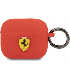 "Raudonas dėklas Apple Airpods 3 ausinėms ""FEA3SILRE Ferrari Silicone Case"""