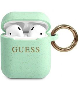 "Žalias dėklas Apple Airpods 1 / 2 ausinėms ""GUACCSILGLGN Guess Silicone Case"""