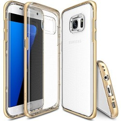 """Auksinės spalvos dėklas Samsung Galaxy S7 Edge telefonui """"Ringke Frame"""""""