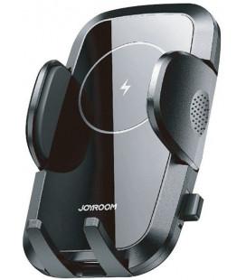 """Juodas automobilinis telefono laikiklis su 15w belaidžio krovimo funkcija """"Joyroom JR-ZS241 Air Vent"""""""