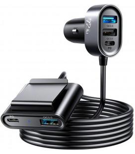 """Juodas automobilinis telefonų kroviklis 72w """"Joyroom JR-CL05 5-Port"""""""