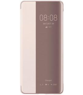 """Originalus rožinis atverčiamas dėklas Huawei P30 Pro telefonui """"S-View Case"""""""