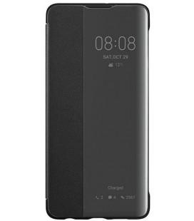 """Originalus juodas atverčiamas dėklas Huawei P30 telefonui """"S-View Case"""""""
