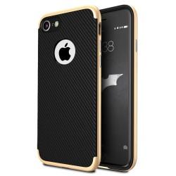 """Auksinės spalvos CARBON dėklas Apple iPhone 7 telefonui """"U.Case"""""""